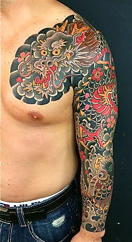 Dragon Koi Full Sleeve
