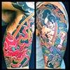 Samurai & Octopus half sleeve