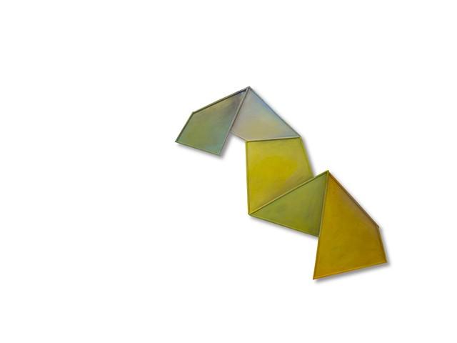 Geometric, dimension, movement, float, color, paint, oil paint, shape, sculpture, invention