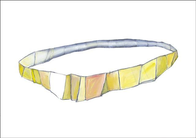 graphite oil paint paper volume shape drawing