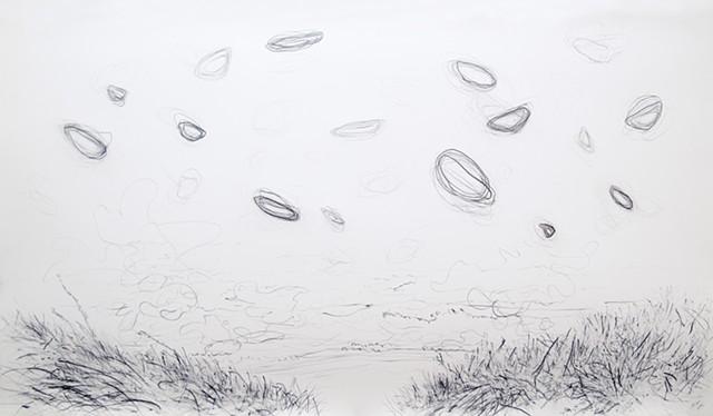 beach movement, float, shape, air space wind Oregon zen japan