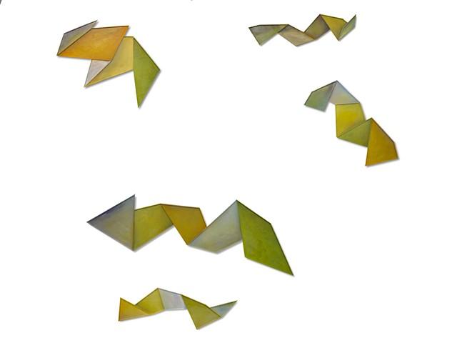 flying, moving in space, natural, gentle, unpretentious Geometric, dimension, movement, float, color, paint, oil paint, shape, sculpture, invention