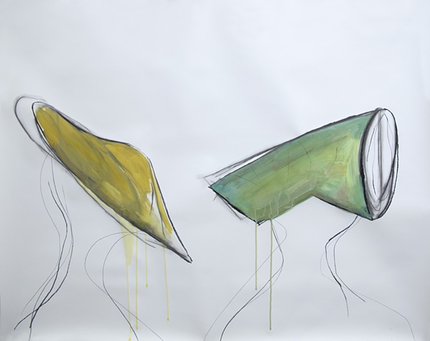 drawing, bold shapes, social commentary,