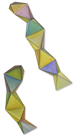 diptych painting color tiles ancient Geometric, dimension, movement, float, color, paint, oil paint, shape, sculpture, invention