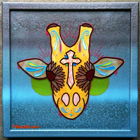 giraffe sugar skull