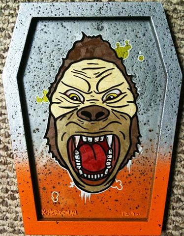 ape coffin lowbrow herdeman