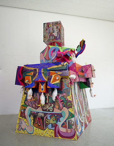 The Sky Shantytown, Mixed Media, 140 X 140 X 27cm, 2011