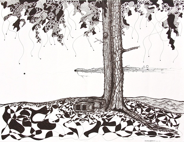 Barn Trees
