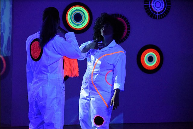 The Universe Within, de Young Museum, Angie Wilson, peformance featuring Rashidi Omari, Malcolm Jefferson, and See Through Soul featuring Mika Lemoine, Sheila Russell,  Anisah Abdullah and Korea Venters