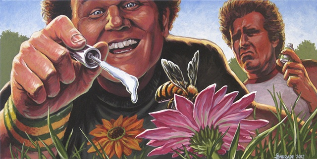 step brothers painting by stephen andrade for gallery 1988 will ferrell john c. reilly