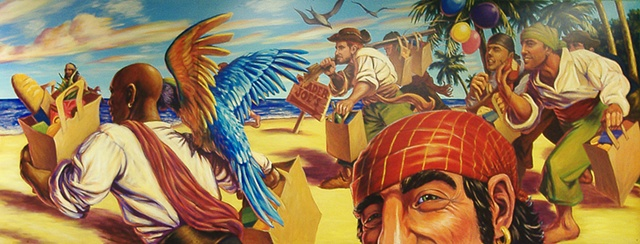 Trader Joe's Pirates (detail)
