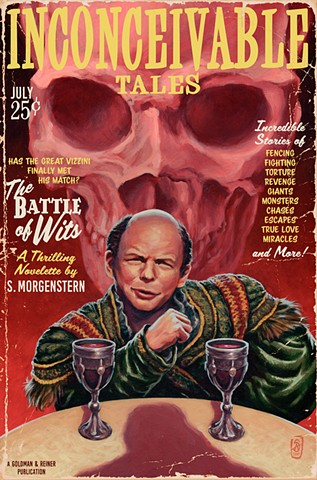 The Battle Of Wits Vintage Pulp Edition by Stephen Andrade The Princess Bride Gallery1988 g1988 30 Years Later art painting print inconceivable