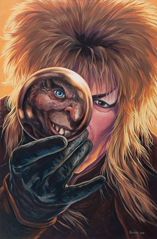 The Goblin King by Stephen Andrade painting 2016 David Bowie Labyrinth Gallery1988 30 Years Later