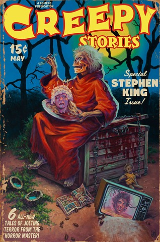 Creepy Stories Vintage Pulp Edition by Stephen Andrade Creepshow painting print Stephen King Gallery1988 g1988