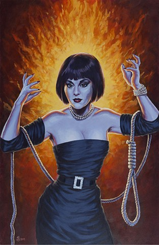 The White Widow by Stephen Andrade Clue Gallery1988 G1988 2015 Madeline Kahn