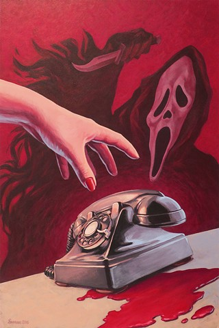 SCREAM! painting by Stephen Andrade gallery1988 g1988 20 years later 2016 wes craven scream