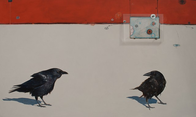 crow painting