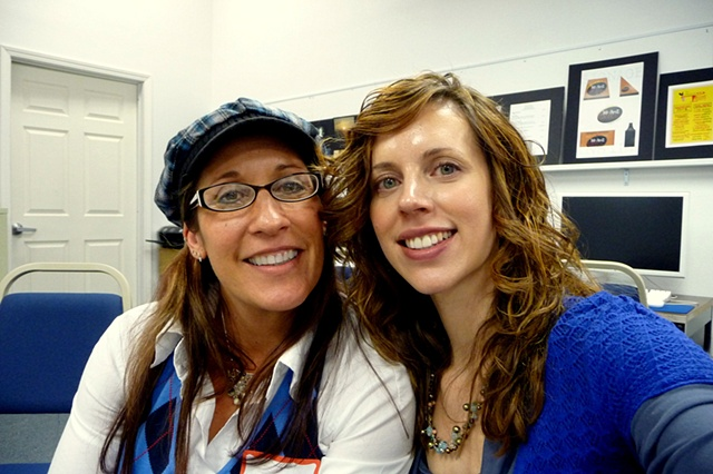 My yoga teacher Wendy Monette and me