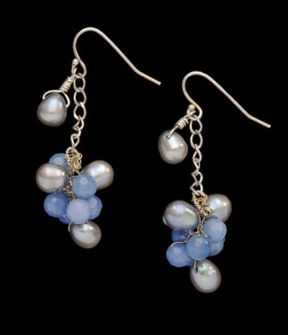 """Hawaiian Cluster Earrings"""