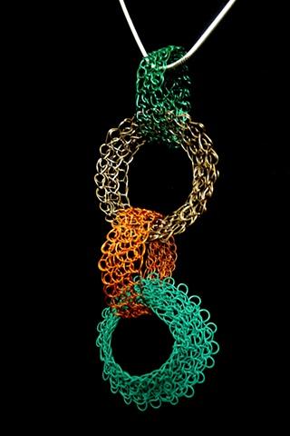 prisha brown wire crochet entwine jewelry