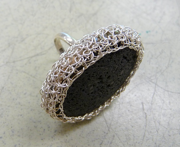Grecian Lava Ring