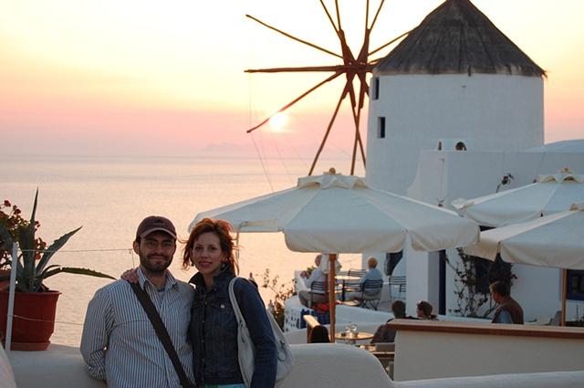 """""""Santorini Sunset with Jon"""""""