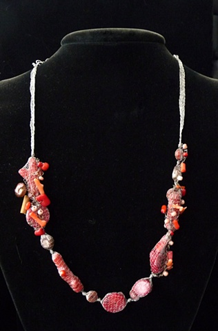 Coral Nets Necklace