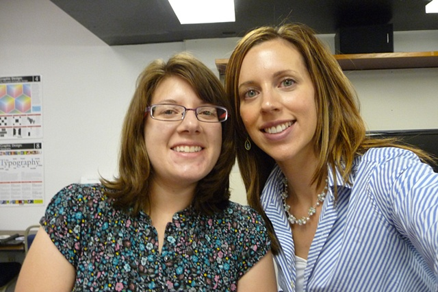 Jennifer and I at the Necklace Class at WVC