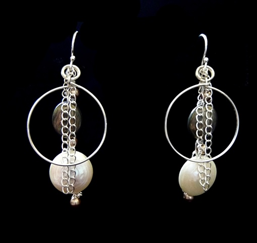 Pyrite and Pearls Earrings