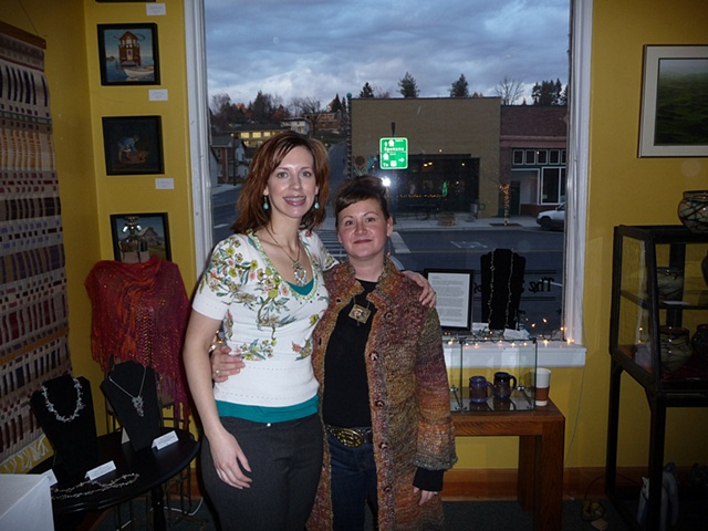 """""""With Cori at the Holiday 2008, Bank Left opening"""""""