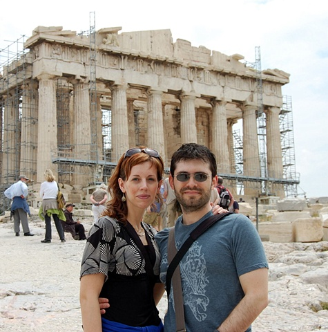 """""""With Jon at the Parthenon in Athens"""""""