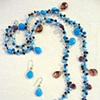 """Honeymoon in Kauai"" Necklace with  ""Blue Mai Tai"" Earrings"