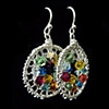 Kathleen's Rainbow Geode Earrings