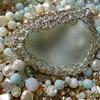 Crocheted Bezel, Beach Glass Pendant