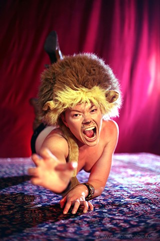 Jiz Lee, Lion photographed for Fleur De Lis' Under My Big Top, A Very Sexy Circus
