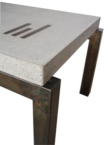 concrete coffe table