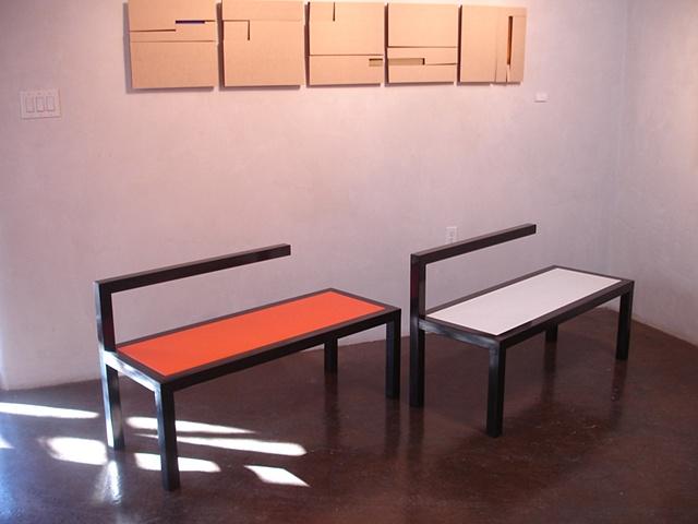 L bench