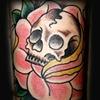 Skull in a rose
