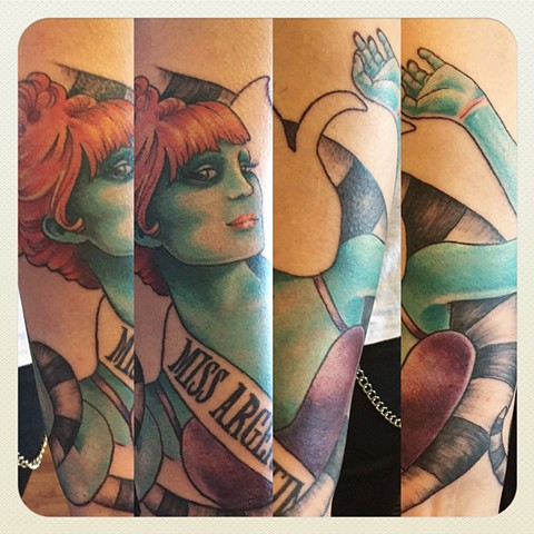Miss Argentina from Beetlejuice, sleeve IN PROGRESS