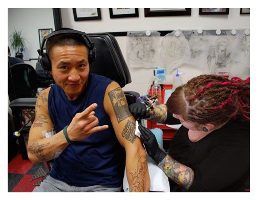 tattooing Terry Chen