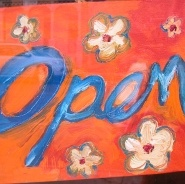 Our hand painted Open Sign