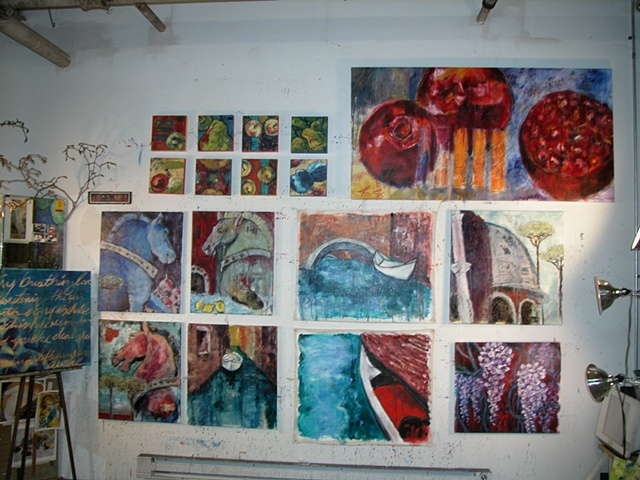 My Studio Wall - Spring 2003