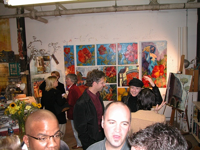 Friends at Open Studio Fall 03