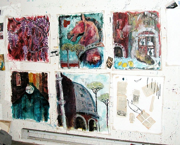 Italy paintings in progress 2003