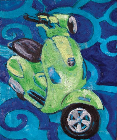 scooter painting vespa artwork