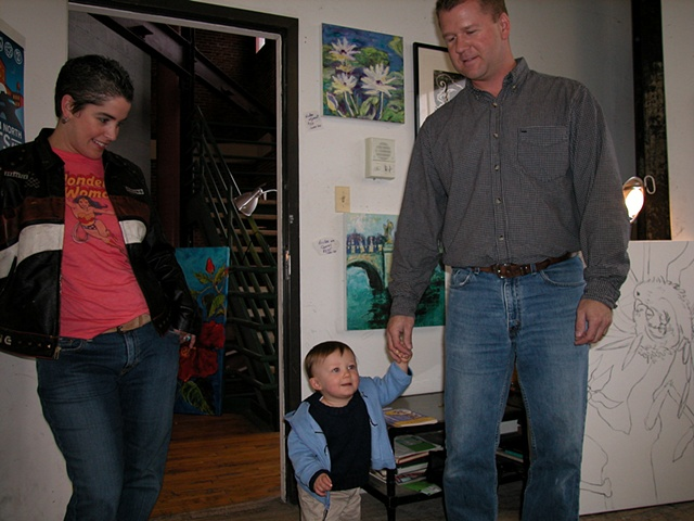 Mare, nephew Michael and brother Mike 2005