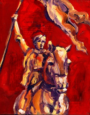 Joan of Arc Red - small painting