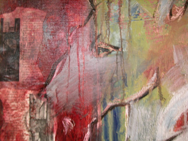 detail of horse painting in progress