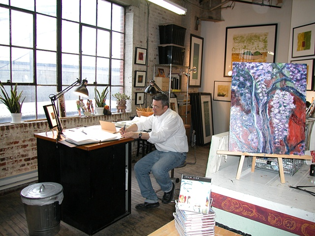 Tim in his space - spring 2003