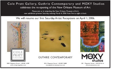 Ad for Feb 2006 exhibit and wine tasting with Cole Pratt Gallery and Guthrie Contemporary